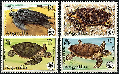 Anguilla 1983 SG#560-3 Endangered Species Turtles WWF MH P13.5 Set #D42153