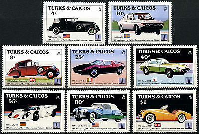 Turks & Caicos Is. 1984 SG#796-803 CLassic Cars MNH Set #D42307