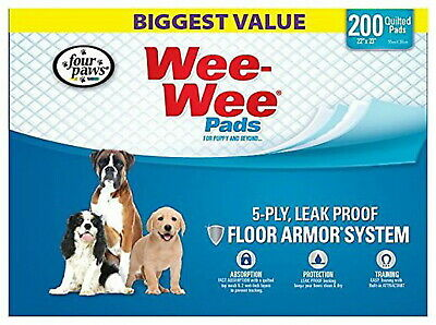 Four Paws Wee-Wee Pads for Dogs, 22x23 Inch, 200 Count