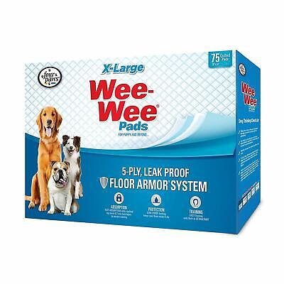 Four Paws Wee-Wee Pads for Dogs, X-Large 48x34 Inch, 75 Count