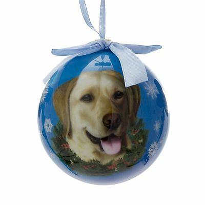 E&S Pets Yellow Labrador Christmas Ornament Shatterproof Ball New in Packaging