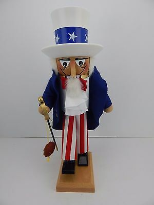Steinbach Nutcracker Uncle Sam New Never Displayed Good Condition