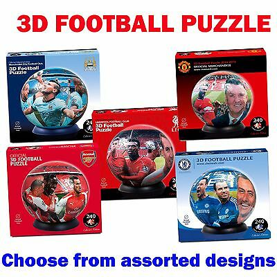 Paul Lamond Official 3D FOOTBALL PUZZLE Club 240pc Puzzle Ball - Assorted Teams