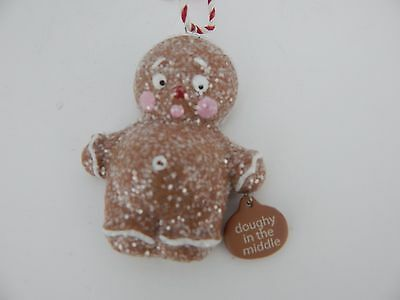 Dept 56 Enesco Ginger & Spice Gingerbread Ornament Doughy In The Middle #4034877