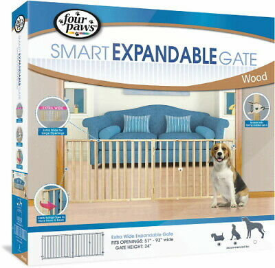 Four Paws Smart Expandable Gate, Extra Wide