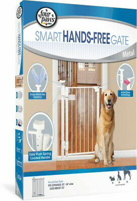 Four Paws Smart Hands-Free Metal Gate
