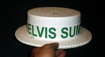 1970S Elvis Presley Summer Festival Promotional Hat (Green) Unused Free Shipping