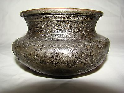 Antique islamic  Persian middle east  Copper Bowl