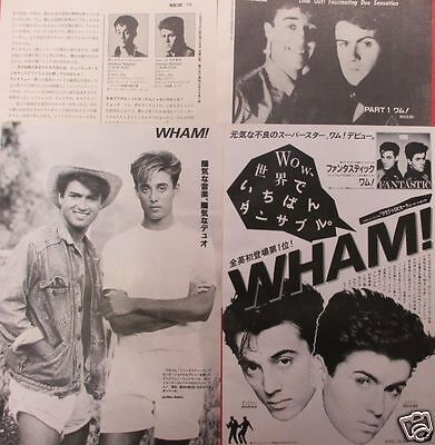 Wham! George Michael Andrew Ridgeley 1983 Clipping Japan Magazine Ml 11A 5Page