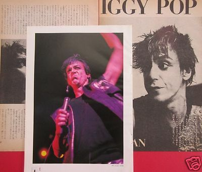 IGGY POP in JAPAN 1983 CLIPPING JAPAN MAGAZINE OS 8A 4PAGE