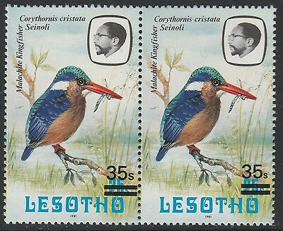 Lesotho (1294) - 1986 Kingfisher provisional with SMALL S variety unmounted mint