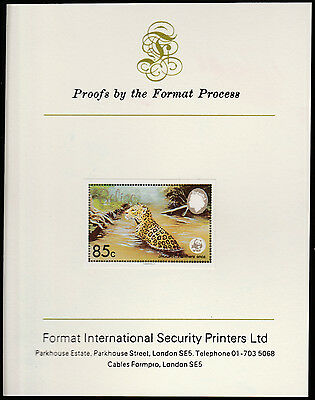 Belize (1305) 1983 WWF - JAGUAR 85c imperf on Format International PROOF  CARD