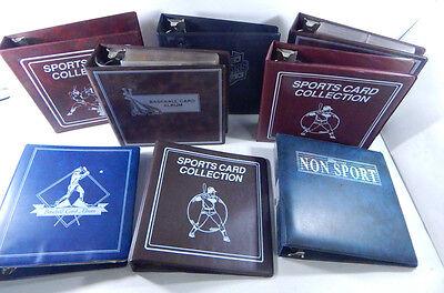 Lot of (8) USED Sports Card Collector Albums  with (100+) 9-pocket pages