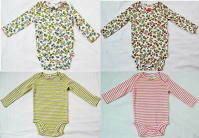 Mini Boden baby soft cotton body bodies bodysuit flower stripe new girls vest
