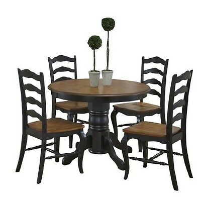 Home Styles  The French Countryside Oak&Rubbed Black 5Pc Dining Set Oak/Black