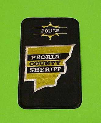 Peoria County  Illinois  Il  Sheriff /   Police Patch   Free Shipping!!!