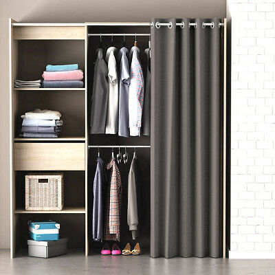 kleiderschrank garderobe chicago regal schrank vulcano eiche mit vorhang eur 134 00 picclick de. Black Bedroom Furniture Sets. Home Design Ideas