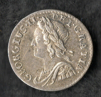 George II Maundy Penny Silver 1758