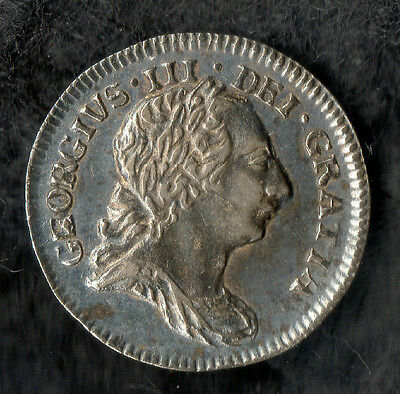 George III Maundy Penny Silver 1781