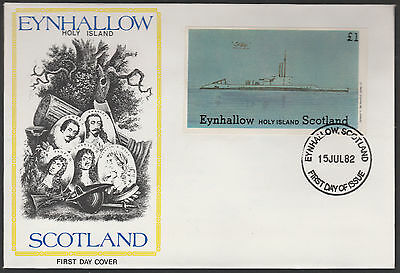 GB Locals - Eynhallow (1321) 1982 SUBMARINES imperf s/sheet on first day cover