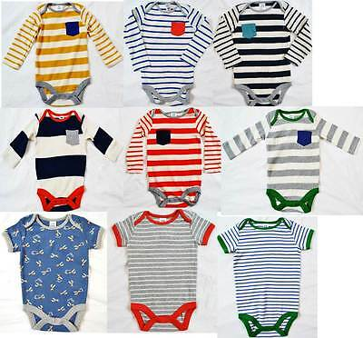 Mini Boden baby boys soft cotton stripe romper body vest  various colours new
