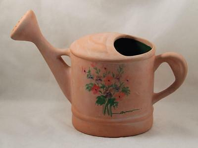 Rosenthal Netter Water Can Pitcher Floral Design Signed
