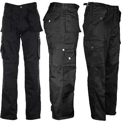 Mens Tuff Duty Cargo Work Construction Pocket Tough Stitched Military Trousers