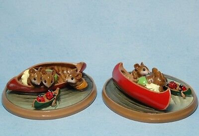Wee Forest Folk Retired Red Canoe Waterbugs