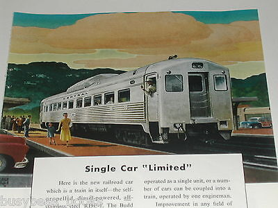 1950 BUDD Co advertisement, RDC-1 Railcar, Generic Central Railroad name