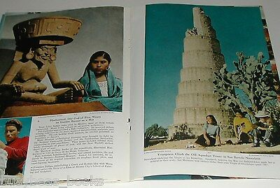 1951 magazine article on Mexico City, history, color photos