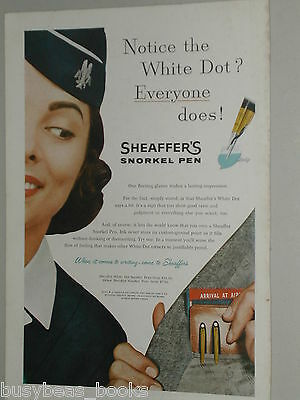 1957 Sheaffer's Pen advertisement, American Airlines Stewardess