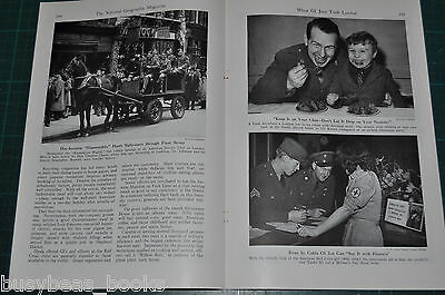 1944 magazine article about the US soldiers on leave in London, WWII