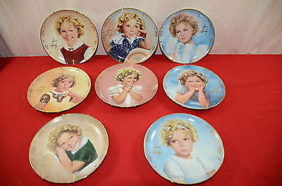Danbury Mint Shirley Temple Plate Lot of 8 with Hangers #1370