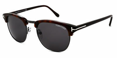922c4af6ed1 Tom Ford HENRY FT 0248 52A B dark havana ruthenium smoke Sunglasses