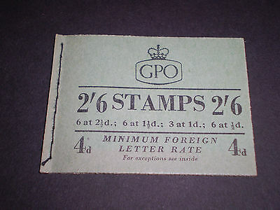 """Great Britain """"january 1954 Composite"""" Booklet {King George Vi & Qe2} Sg.f13 Mnh"""