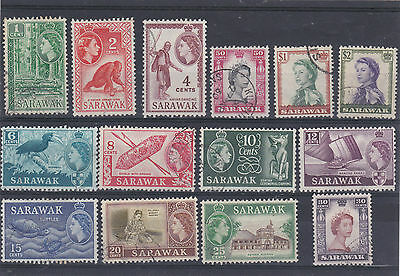 Sarawak 1955 Pictorial Short Set To $2 Sg.188-201 Fine Used
