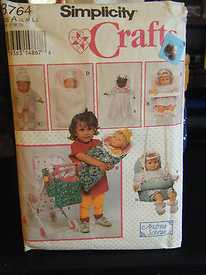 Simplicity Crafts 8764 Doll Clothing & Accessories Pattern