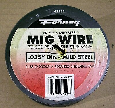 Welding Supplies: Forney Mig Wire .035, Er 70S-6 Mild Steel, 2 Lb., 1 Ea., 42292