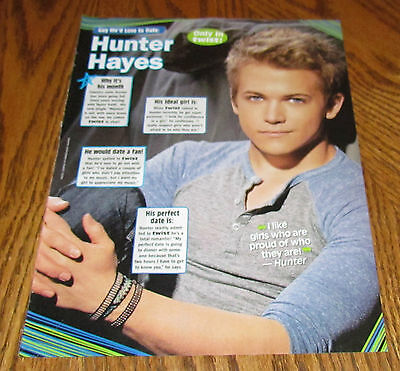 HUNTER HAYES Pinup Clipping Pic 8X10 Teen Boy Male Star Cute Guy Country Singer