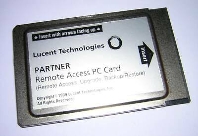 Avaya Lucent AT&T Partner PCMCIA Remote Access PC Card