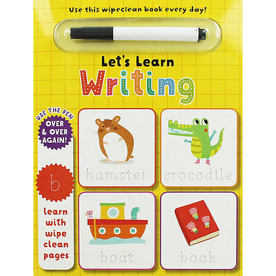 Wipe Clean Lets Learn Writing, Children's Books, Brand New
