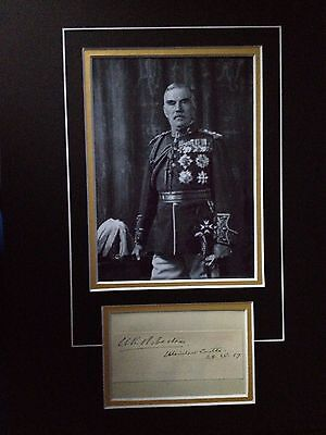 William Robertson - Distinguished Army Officer - Excellent Signed Photo Display