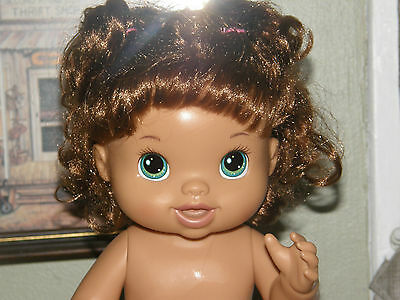 Beautiful Now Baby BABY ALIVE Doll Retired Brunette Hispanic 2011 - 13 inch