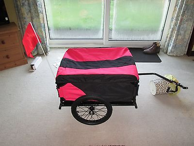 NEW!!! Folding Black / Red Bicycle Cargo Trailer and Top Cover