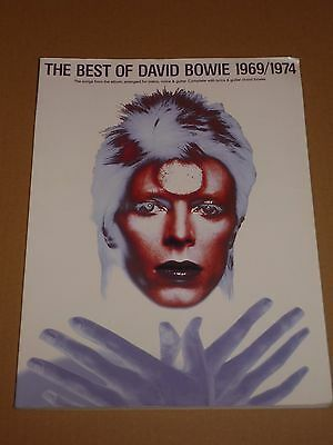 """David Bowie """"The Best Of David Bowie 1969/1974"""" 1998 song book"""