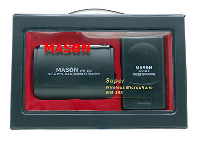 Mason WM-393 Wireless Microphone System with Headset Microphone and Bonus Lapel