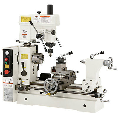 Shop Fox M1018 110V 3/4 HP Combo Lathe Mill, Small