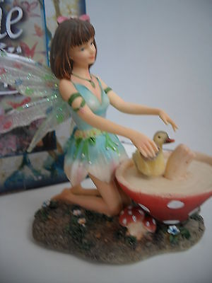 """Faerie Glen Woodland Fairy """"curafae """" Fairy With Baby Duck Boxed And Retired"""