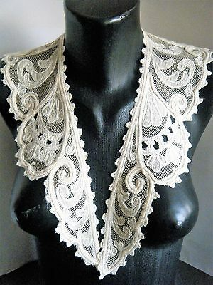 Antique Collar Original net tambour lace combo with applique nice design