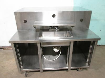 Heavy Duty Commercial S.s. Portable Free-Standing Hand Wash Sink Station